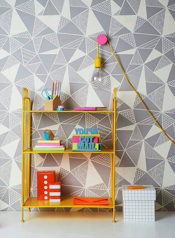 Para os mais ousados: paredes com formas geométricas!  (Foto: Conceito de estilo)