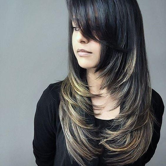 Corte de cabelo degradê feminino 2020 longo