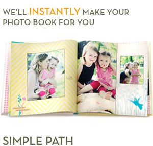 Let us create a photobook for you-instantly (Shutterfly)