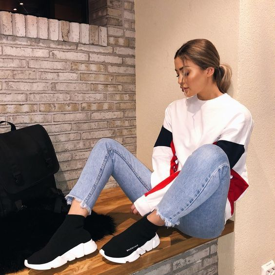 How to get cheap  Balenciaga  Speed  Trainers Mid Black White sneakers #sneakers #fashion #shoes #sport #men #woman #style  #balenciaga #SpeedRunner #MidBlackWhite