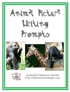 Unit 4.5 free animal picture writing prompts... great for time fillers and test practice