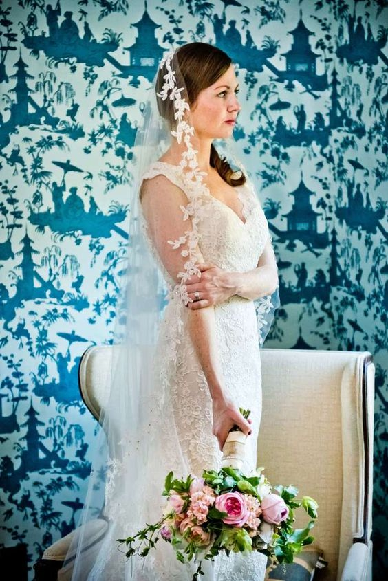 Classic Lace Liancarlo Wedding Dress | TRUE PHOTOGRAPHY WEDDINGS | A FAMILY AFFAIR OF MAINE | LIANCARLO | http://knot.ly/6496B0KAa |  http://knot.ly/6498B0KAI