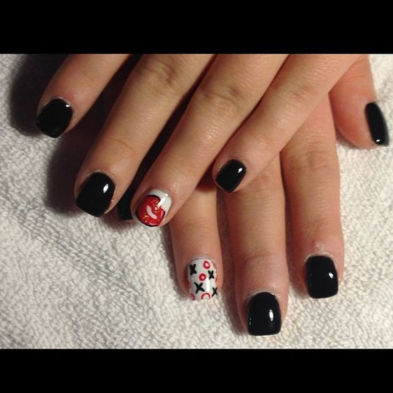 Valentines nails by Jen M.! Call The Sapphire in Pittston at (570) 602-7700 to make your next appointment with her! #nails #nailart #valentine #valentinesday #sapphiresalonandspa #pittston #mohegansunpocono