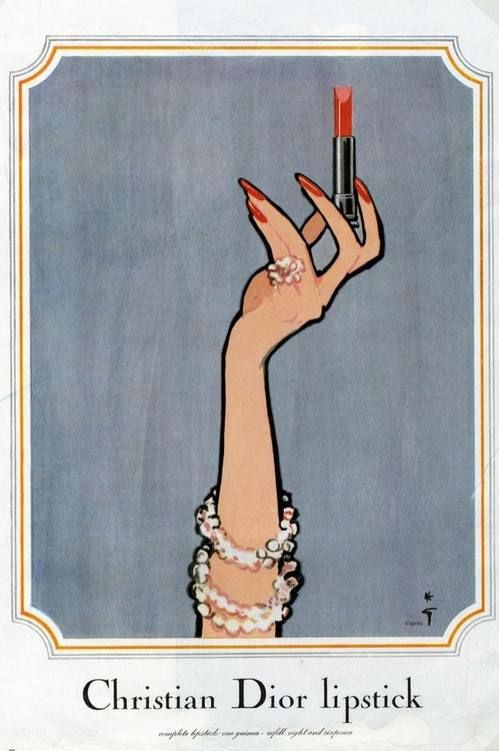 Christian Dior Lipstick Sketch Art.: