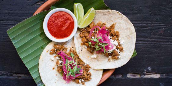 Tacos de Suadero. Recipe from Chef Diego Galicia and Chef Rico Torres of Mixtli in San Antonio, Texas. Photo by Jenn Hair