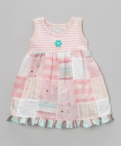 Take+a+look+at+the+Pink+Stripe+Patchwork+Ruffle+Dress+-+Infant+&+Toddler+on+#zulily+today!