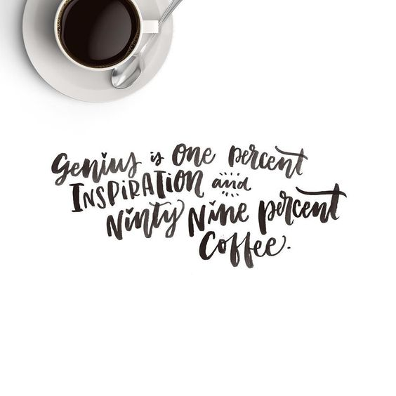 Well my genius at least. #coffeefueled #type #typelove #watercolor #typespire #typedesign #tyopgraphy #thedailytype #thedesigntip #handdrawntype #lettering #maydesigns #goodtype #ligaturecollective #letteringco #designinspiration #slowroastedco #makemediaco #handmadefont #brushlettering #handlettering #instagood #calligritype #font #letteringpractice #brushfont #brushlettering by makemediaco