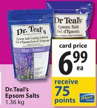 Dr.Teal's Epsom Salts from Save-On-Foods $6.99
