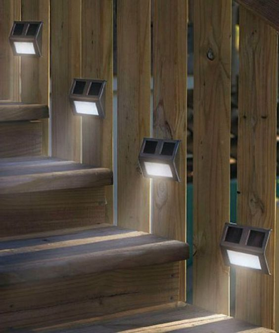 Solar Outdoor Lights Garden Lights Solar Solar Step Lights Outdoor Set Of 4