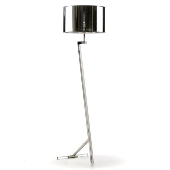 Villa Lumi Cassino Floor Lamp, Nickel | ACHICA