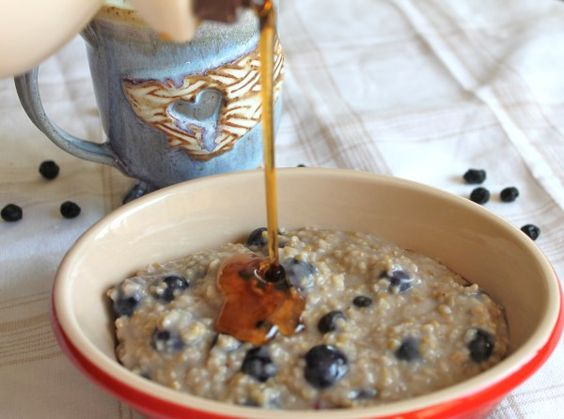 Double Blueberry Steel cut Oats