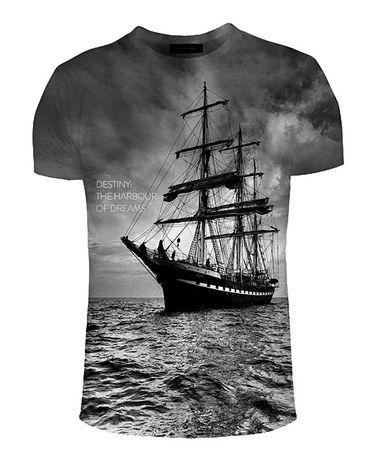 Another great find on #zulily! Black & Gray Ship Sublimation Tee - Adult #zulilyfinds