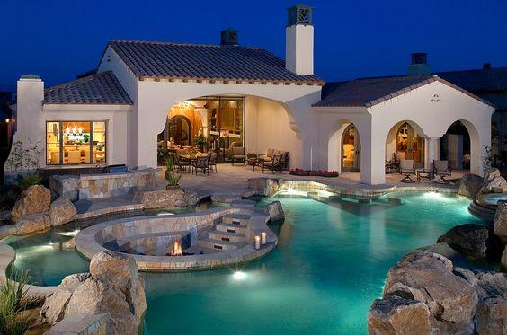Mediterranean Pool Design in Orange County