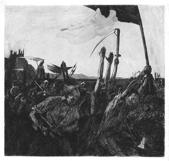 Kathe Kollwitz, Uprising, 1899: