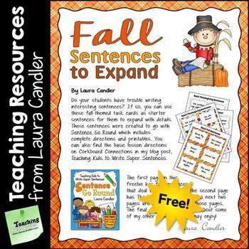 FREE Fall Sentences to Expand