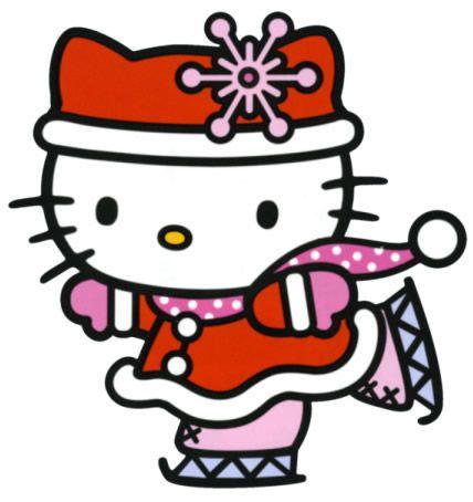 Hello Kitty Ice Skating Figurine #HelloKitty #IceSkating #Winter