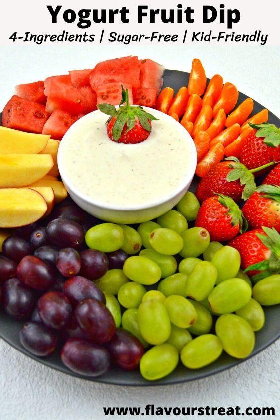 Yogurt Fruit Dip 5 Minutes Dip Recipe Video Recipe In 2020 Yogurt Fruit Dip Healthy Work Snacks Healthy Snacks