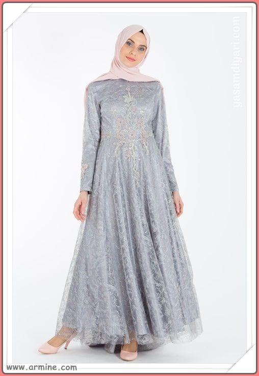 Armine Tesettur Abiye Modelleri 2019 Lookbook Elbise Modelleri Elbise Victorian Elbiseler
