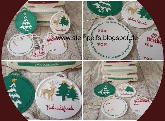 Stempel, Farben & Spaß: neue weihnachtliche Geschenkanhänger ab September 2016