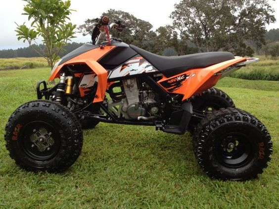 DAY 6  2008 KTM 450XC QUAD, ATV, Excellent condition, Low hours, never raced, barely ridden.  Matte Black Bell helmet, Oakley goggles, Fox pants and jersey and Alpinestar boots included.   $4,000
