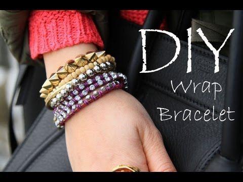 DIY Wrap Rhinestone Bracelet