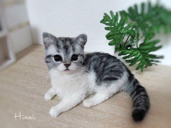 Gallery 1 - Hinali羊毛フェルト猫 ちょっとリアルでかわいい猫たち: