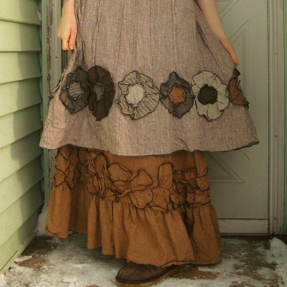 Flower Bottom Dress by sarahclemensclothing on Etsy