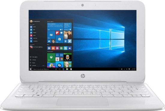 Best Buy Hp Stream 11 6 Laptop Intel Celeron 4gb Memory 64gb Emmc Flash Memory Textured Linear Grooves In Snow White 11 Ah012dx Touch Screen Laptop Laptops For Sale Samsung Notebook 9