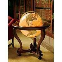 An antique globe.