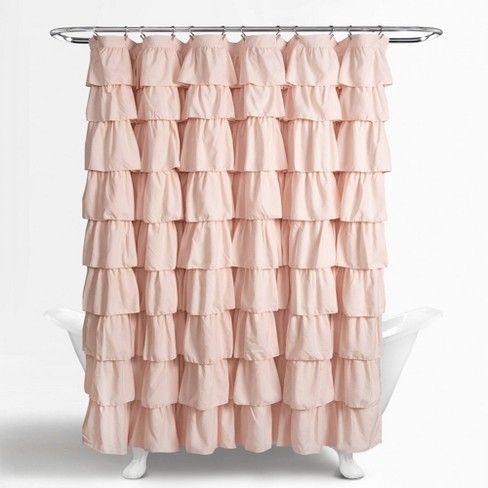 Ruffle Shower Curtain Blush Pink Lush Decor In 2020 Ruffle