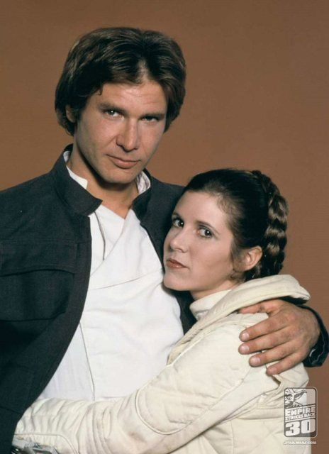 Princess Leia Organa and Han Solo: