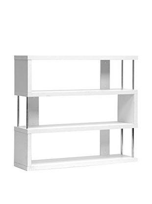 Baxton Studio Barnes 3-Shelf Bookcase, White