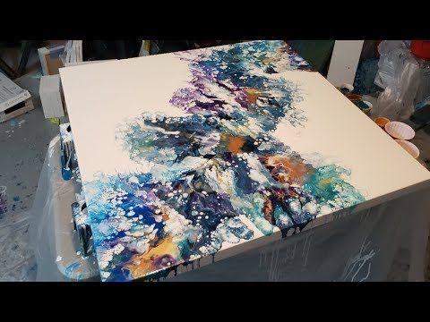 3ft By 3ft Dutch Pour Kind Of Lol Acrylic Pouring Blow Dryer