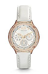 White Leather Capistrano Watch