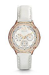 White Leather Capistrano Watch