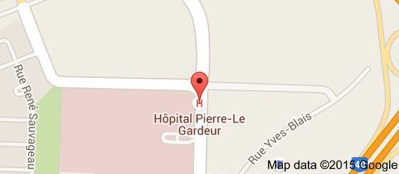 Map of Pierre-Le Gardeur Hospital