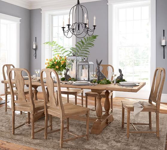 Parkmore Reclaimed Wood Extending Dining Table Dining Room