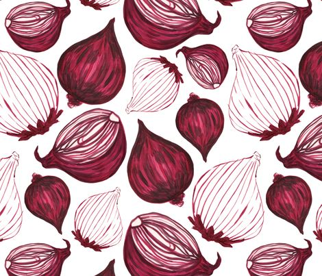 Red onion fabric by clairecaudwell on Spoonflower - custom fabric