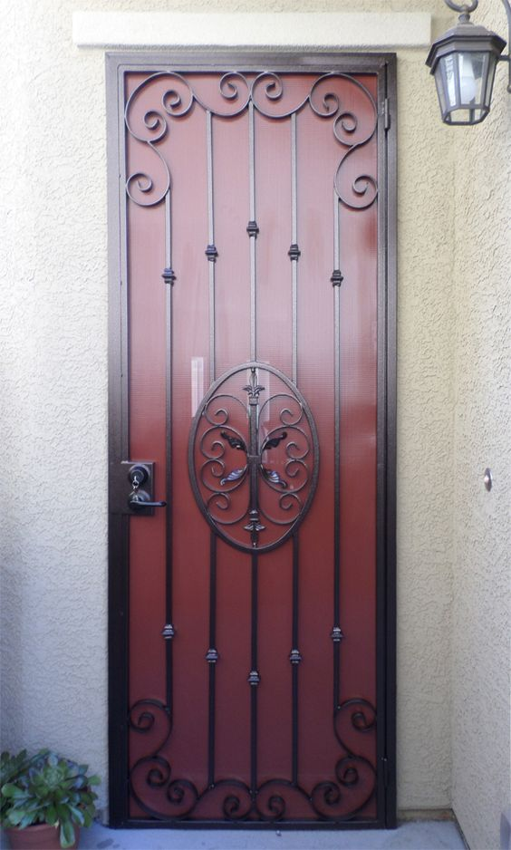 Modern classic security screen and classic on pinterest for Modern screen door