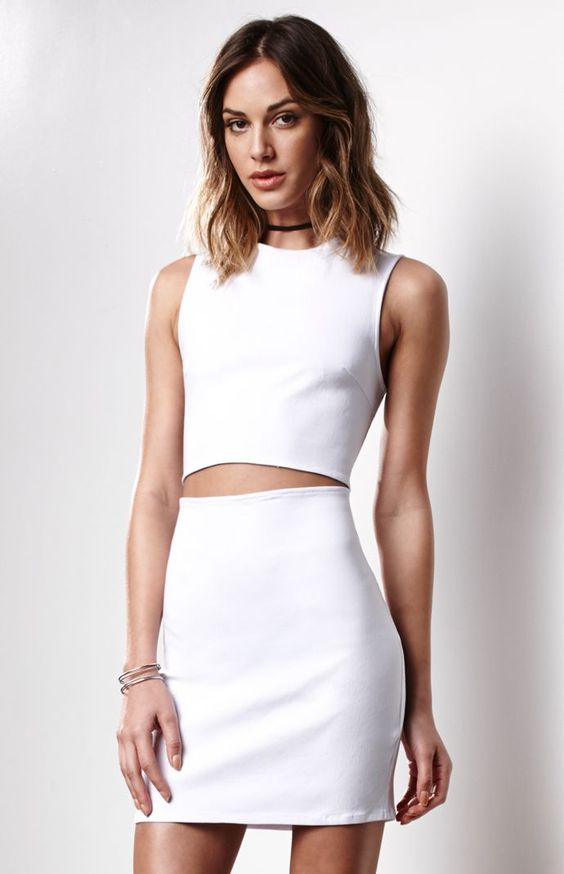 Ivana Cutout Twill Dress