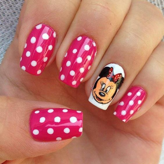 20 Diseños de Uñas de Minnie y Micky Mouse