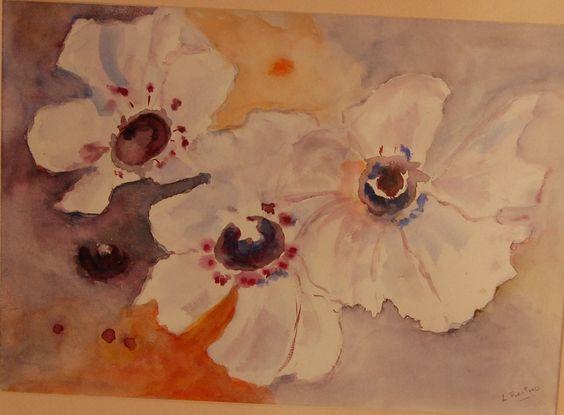 aquarelles originale éclat de fleurs les Anémones : Peintures par lilicouleurs