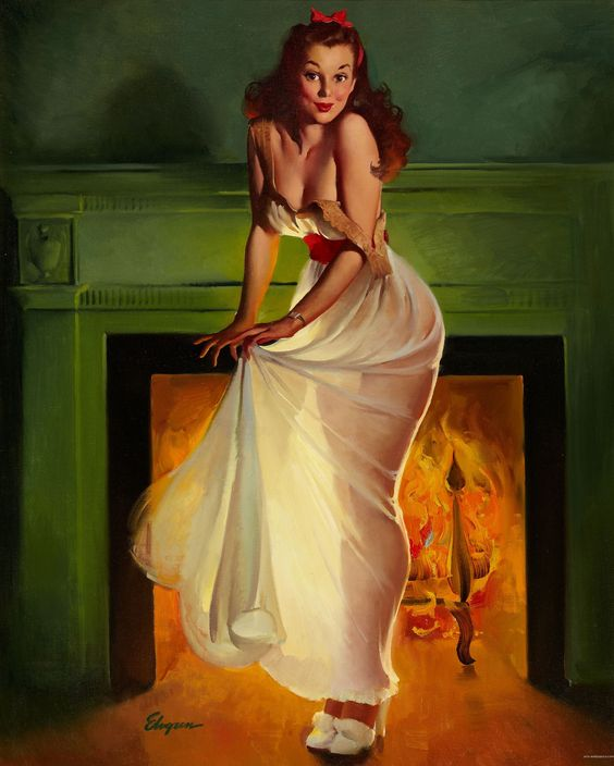 Gil Elvgren Sheer Delight 1948 This Soots Me THis Suits Me 1948 Brown & Bigelow