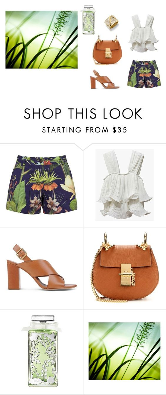 """A spring breeze   :)"" by lalynany ❤ liked on Polyvore featuring Penfield, Chloé, Guerlain and Marina B"