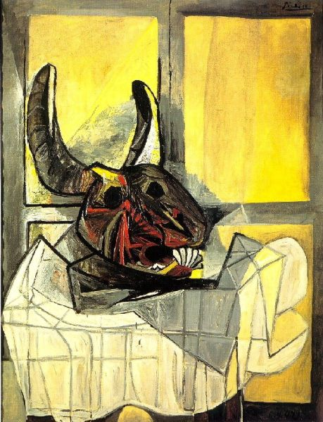 pablo picasso 1942 t te de taureau sur une table artist picasso pinterest pablo. Black Bedroom Furniture Sets. Home Design Ideas