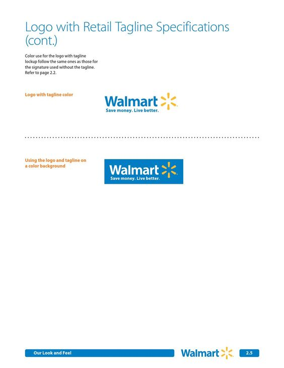 ISSUU - Walmart Brand Guidelines by Brand Books