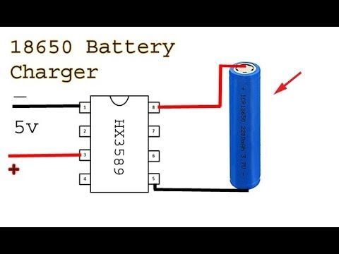 Make A 18650 Battery Charger Li Ion Battery Charge Controller Circuit Youtube Battery Charger Solar Battery Charger Electronic Circuit Projects