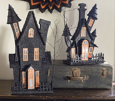 Light up haunted houses pbkids cardboard a little paper for How to make a cardboard haunted house