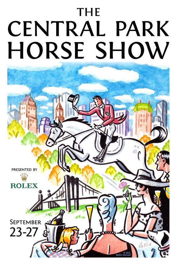 Buy these cute posters for the Central Park Horse Show from my friend Rollin McGrail #cphorseshow