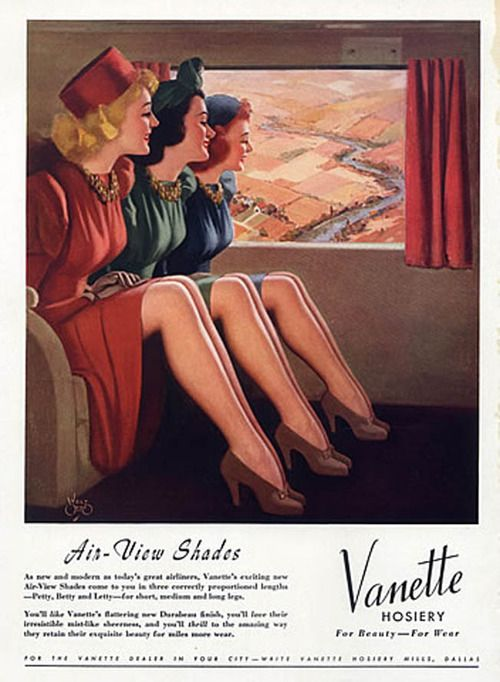 Vanette stockings, 1940